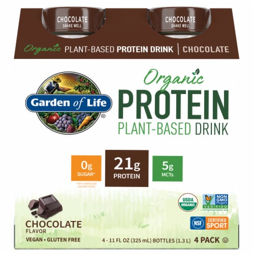 Organic Chocolate Plant Protein Shake Perspective: front