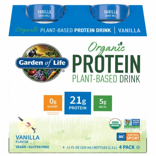 Organic Vanilla Plant Protein Shake Perspective: front