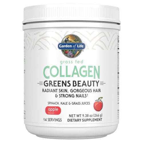 Garden of Life Apple Collagen Greens Beauty Powder Perspective: front