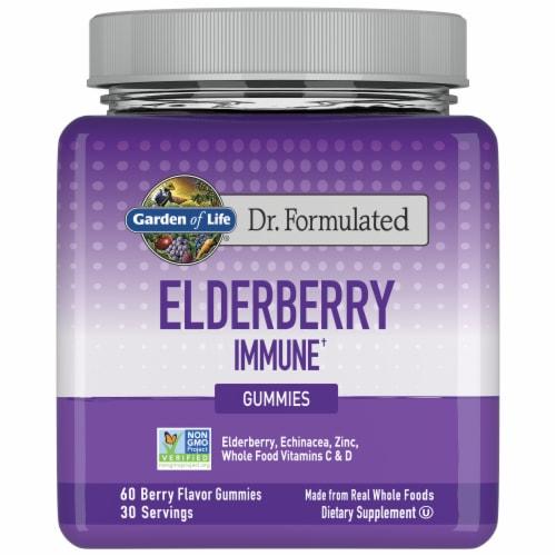Garden of Life® Dr Formulated Elderberry Immune Gummies Perspective: front