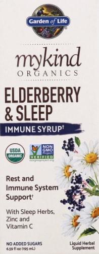 Garden of Life Mykind Organics Elderberry & Sleep Immune Syrup Perspective: front