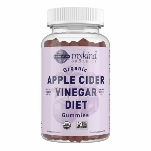 Garden of Life MyKind Organics Apple Cider Vinegar Diet Vegan Gummies Perspective: front