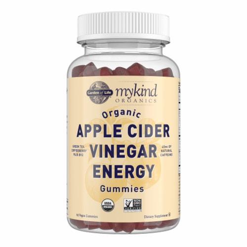 Garden of Life MyKind Organics Apple Cider Vinegar Energy Vegan Gummies Perspective: front