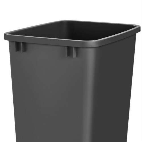 Rev A Shelf RV-35-18-52 35 qt. Replacement Plastic Container  Black Perspective: front