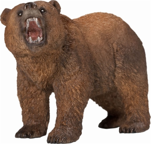 Schleich Female Grizzly Bear Figure - Brown Perspective: front