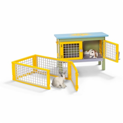 Schleich Rabbit Figures with Hutch Perspective: front