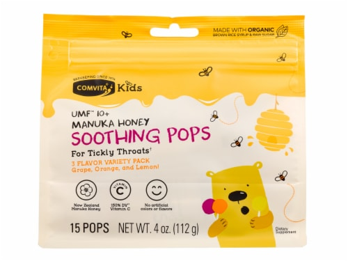 Comvita Kids Soothing Pops Variety Pack Perspective: front