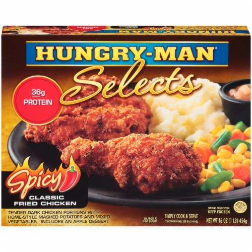 Hungry-Man Selects Spicy Classic Fried Chicken Frozen Meal Perspective: front