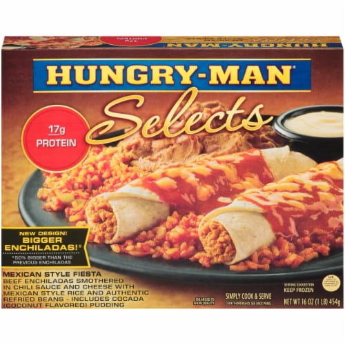 Hungry-Man Selects Mexican Style Fiesta Enchiladas Perspective: front