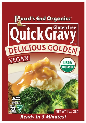 Road's End Organics Quick Gravy Delicious Golden Gravy Mix Perspective: front