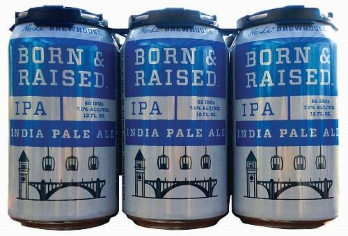 No-Li BrewHouse Born & Raised India Pale Ale Perspective: front