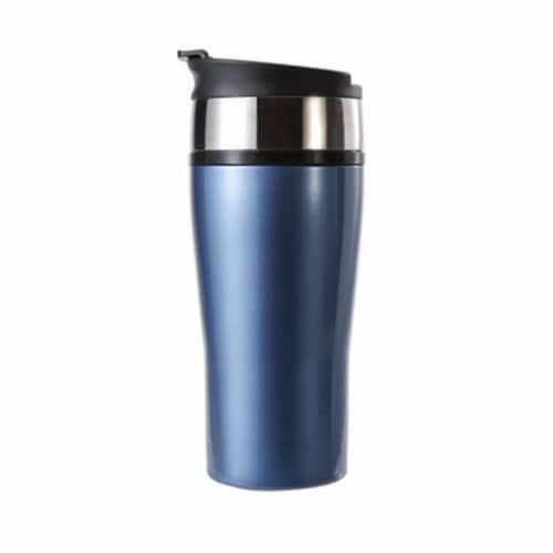 Timolino 16 oz. Color Signature Insulated Vacuum Tumbler - Aqua Blue Perspective: front