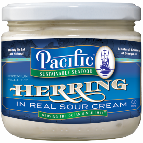 Pacific Herring in Real Sour Cream Perspective: front