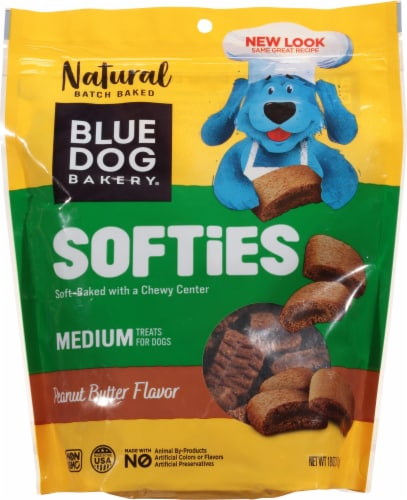 Blue Dog Bakery Softies Peanut Butter Flavor Medium Dog Treats Perspective: front