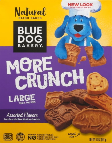 Blue Dog Bakery More Crunch Assorted Flavors Large Dog Treats Perspective: front