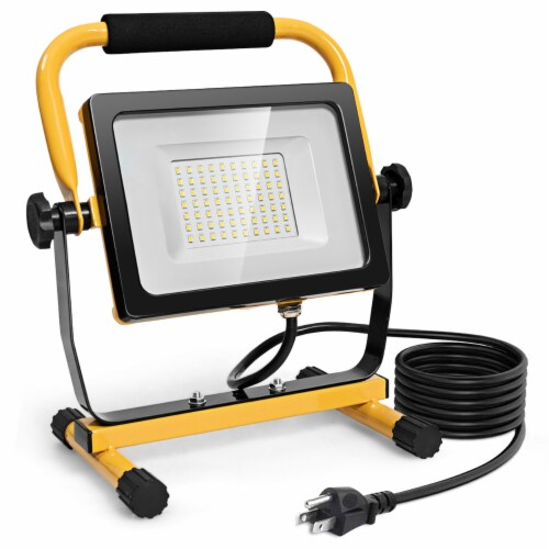 Costway 50W 5000lm LED Work Light Portable Outdoor Camping Job Site Lighting Waterproof Perspective: front