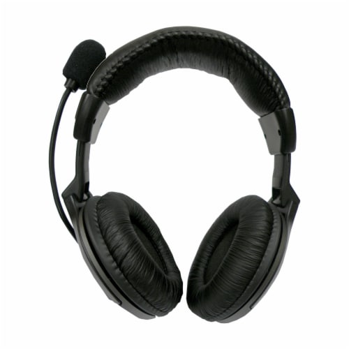 Digital Innovations Padded Multimedia Headset - Black Perspective: front