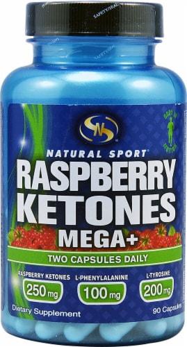 Natural Sport  Raspberry Ketones Mega+ Perspective: front