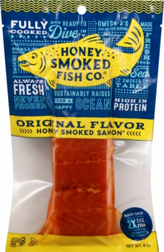 Honey Smoked Fish Co. Original Honey Smoked Salmon Perspective: front