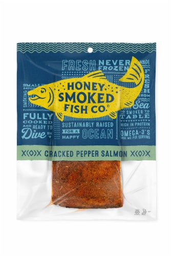 Honey Smoked Fish Co. Cracked Pepper Salmon Perspective: front