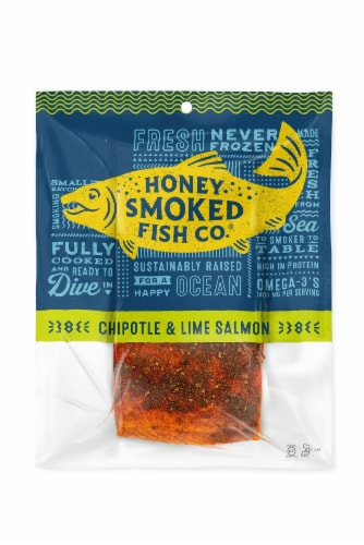Honey Smoked Fish Co. Chipotle & Lime Salmon Perspective: front
