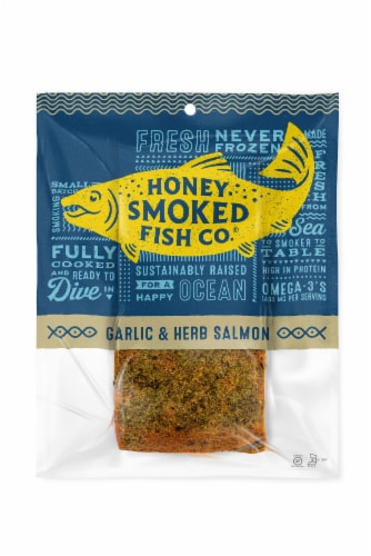 Honey Smoked Fish Co. Garlic & Herb Salmon Perspective: front
