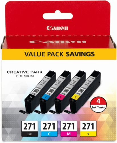 Canon CLI-271 Ink Cartridges - Black/Cyan/Magenta/Yellow Perspective: front