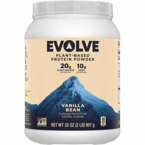 Evolve® Plant-Based Ideal Vanilla Bean Protein Powder Perspective: front