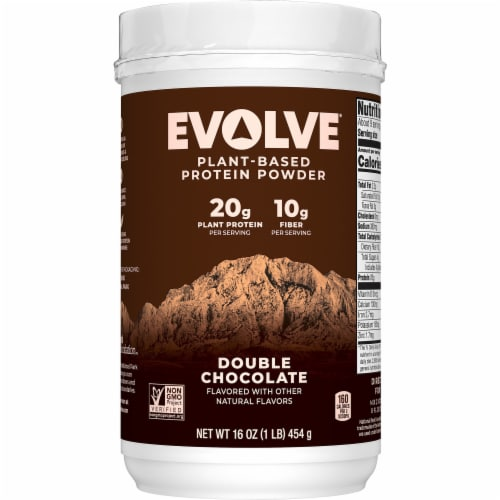 Evolve Classic Chocolate Protein Powder Perspective: front