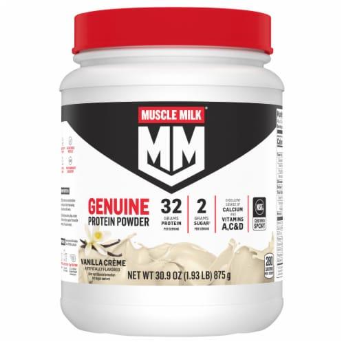 Muscle Milk Genuine Vanilla Creme Protein Powder Perspective: front