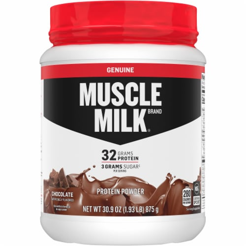 Muscle Milk Genuine Chocolate Protein Powder Perspective: front