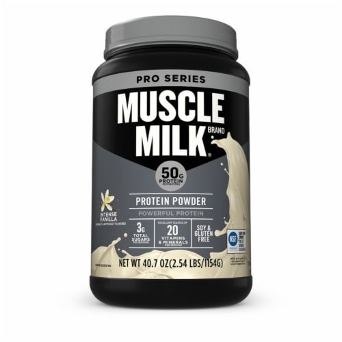 Muscle Milk Intense Vanilla Protein Powder Perspective: front