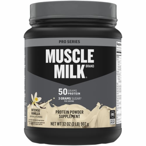 Muscle Milk Pro Series 50 Vanilla Protein Powder Perspective: front