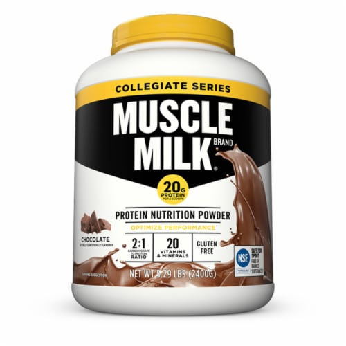 Muscle Milk Chocolate Protein Nutrition Powder Perspective: front