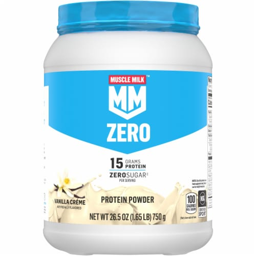 Muscle Milk Vanilla Creme Low-Fat Protein Powder Perspective: front