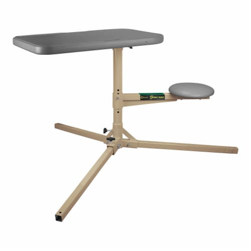 Caldwell 252552 The Stable Table with Ambidextrous Weatherproof Design and Seat Perspective: front