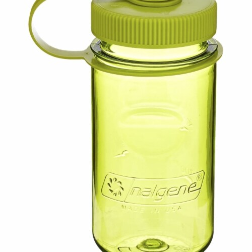 Nalgene 347975 Mini-Grip Everyday Water Bottle with Green Cap, Green Perspective: front