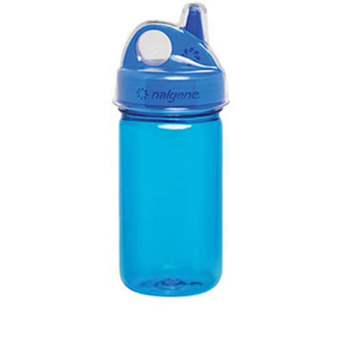 Nalgene 341911 Grip-N-Gulp Blue with Cover Perspective: front