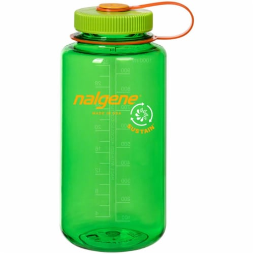 Nalgene 341961 1 qt. Wide Mouth Sustain Water Bottle, Melon Ball Perspective: front
