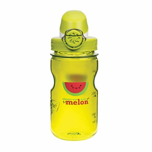 Nalgene NAL-1263-0007 12 oz Kids Melon OTF Bottle with Green Cap, Green Perspective: front