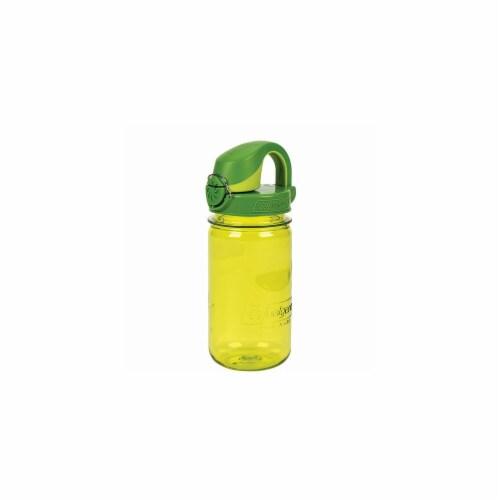 Nalgene NAL-1263-0011 12 oz OTF Kids Water Bottle with Green Cap, Green Perspective: front