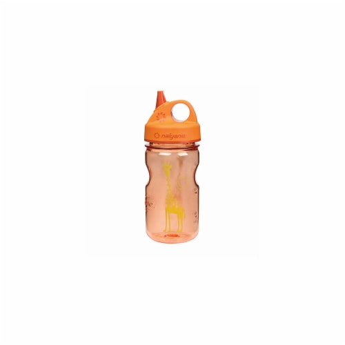 Nalgene NAL-2182-2212 Grip n Gulp Giraffe Water Bottle, Orange Perspective: front