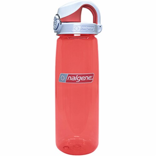 Nalgene 341871 24 oz On The Fly Bottle with Cap, Coral & Frost Perspective: front