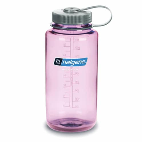 Nalgene NAL-2178-2054 Tritan Wide Mouth Bottle with Gray Cap, Cosmo - 32 oz Perspective: front