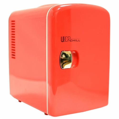 Uber Appliance Mini Fridge 6-can portable refrigerator cooler/warmer Bedroom/dorm/RV Perspective: front