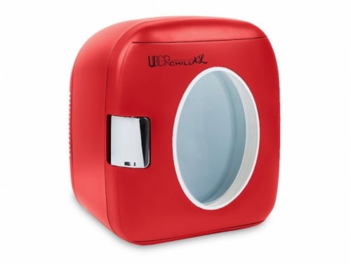 Uber Appliance Personal/Portable Mini Fridge 12 can Cooler/Warmer|indoor/outdoor|Home/office Perspective: front