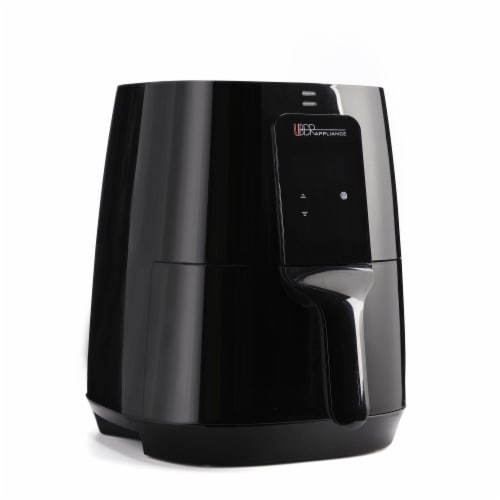 Uber Appliance Air Fryer XL Large 5 Qt Touch Display with 8 Pre-Set Functions, 5 quart, Black Perspective: front