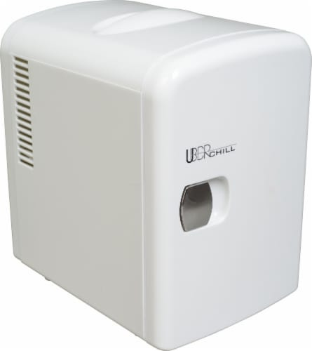 Uber Appliance Mini Fridge 6-can portable refrigerator|cooler/warmer|Bedroom/dorm/RV Perspective: front