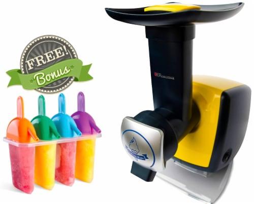 Uber Appliance Sorbet Frozen yogurt maker|soft serve fruit machine|4pc Popsicle mold included Perspective: front
