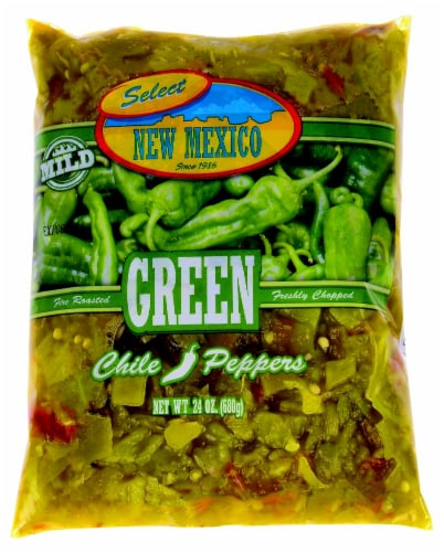 New Mexico Select Mild Green Chile Peppers Perspective: front